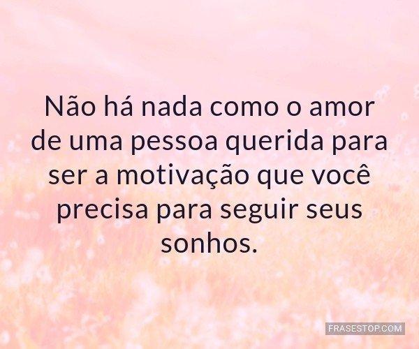 Não há nada como o amor...