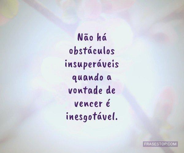 Não há obstáculos...