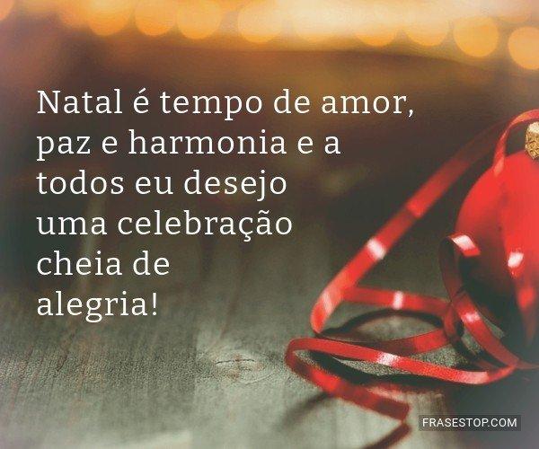 Natal é tempo de amor,...