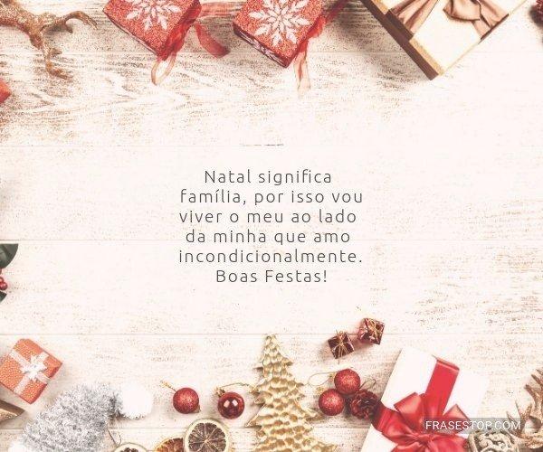 Natal significa família,...