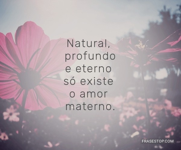 Natural, profundo e...
