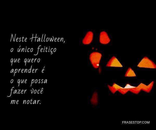 Neste Halloween, o único...