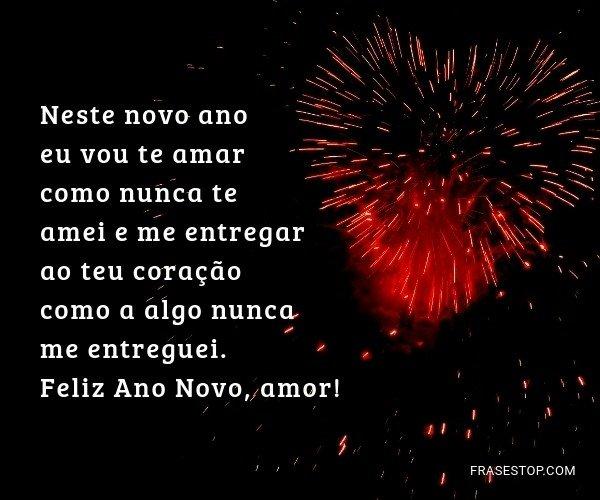 Neste novo ano eu vou te...