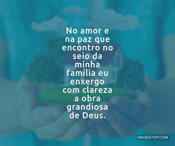 No amor e na paz que...