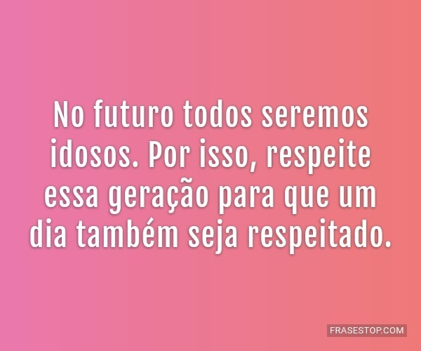 No futuro todos seremos...