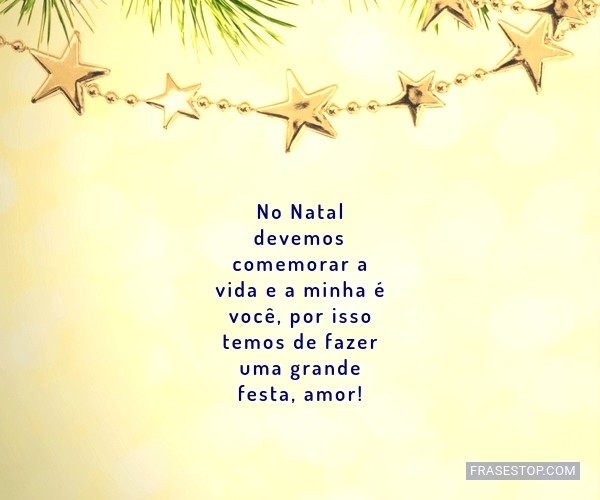 No Natal devemos...