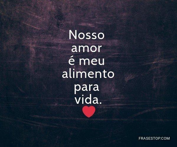 Nosso amor é meu...
