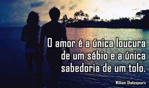 O amor é a única...