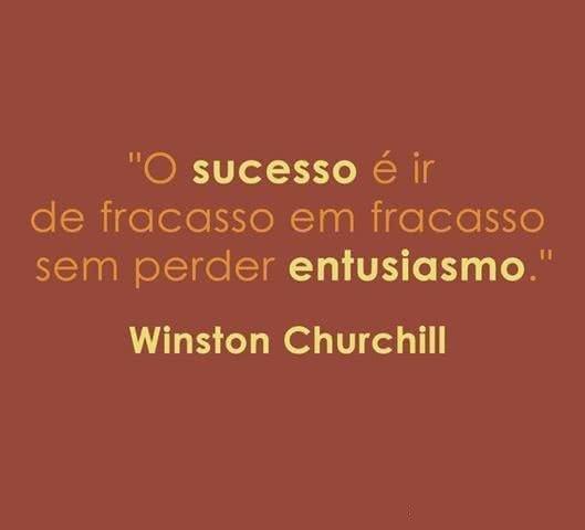 O sucesso é ir de...