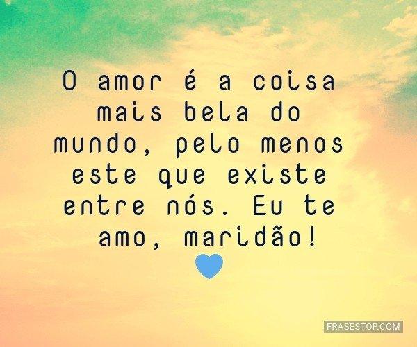 O amor é a coisa mais...