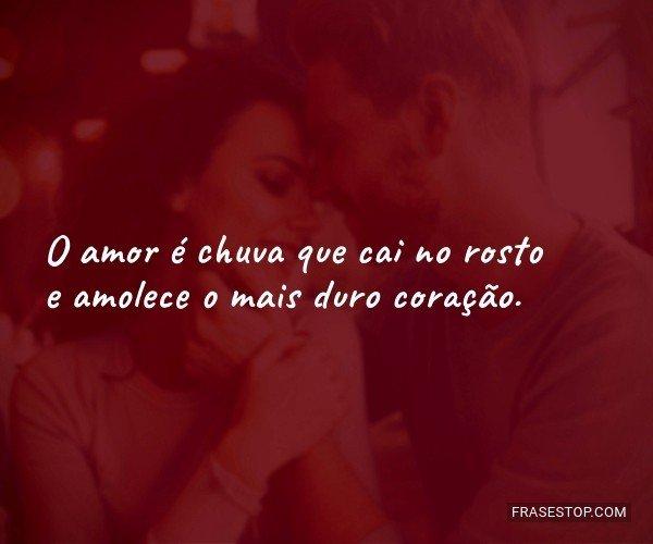 O amor é chuva que cai...