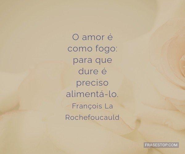 O amor é como fogo: para...