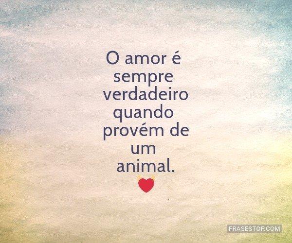 O amor é sempre...