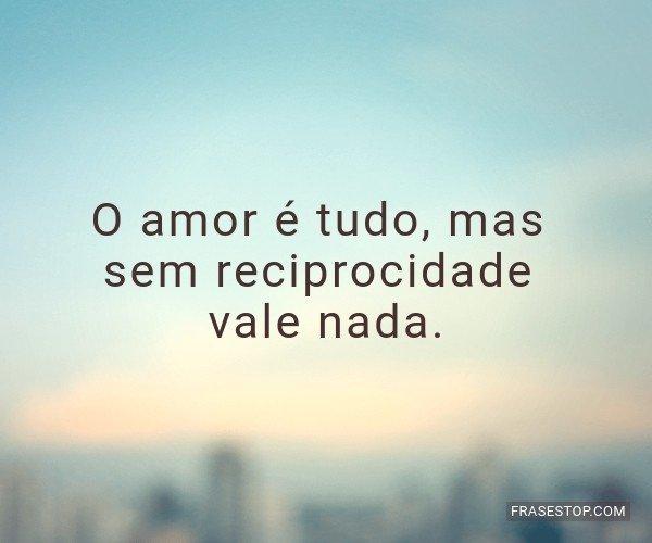 O amor é tudo, mas sem...