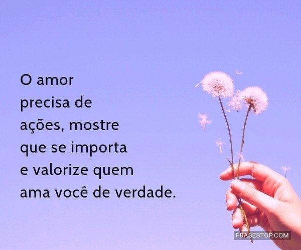 O amor precisa de...