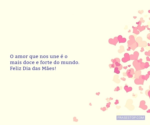 O amor que nos une é o...