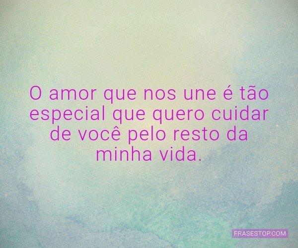 O amor que nos une é...