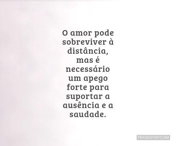 O amor pode sobreviver à...