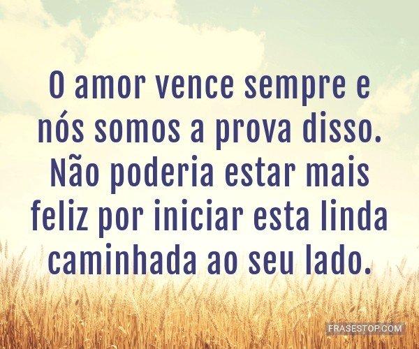 O amor vence sempre e...