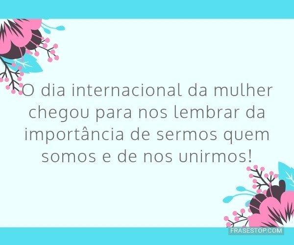 O dia internacional da...