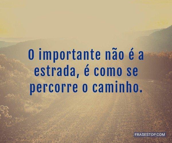 O importante não é a...