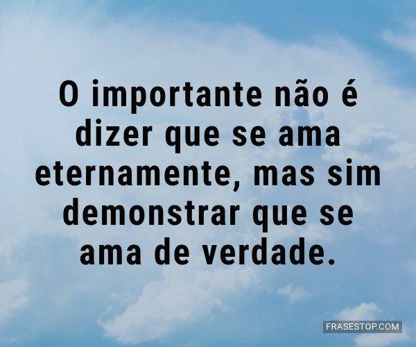 O importante não é...