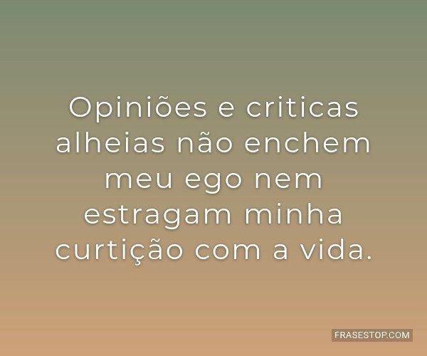 Opiniões e criticas...