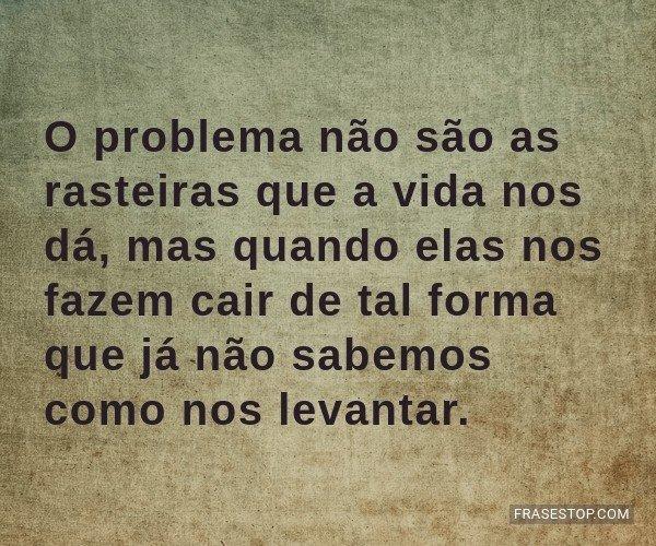 O problema não são as...