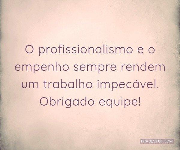 O profissionalismo e o...