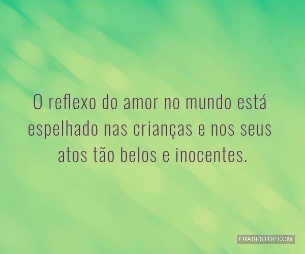 O reflexo do amor no...