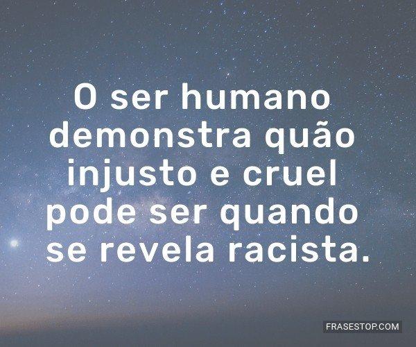 O ser humano demonstra...