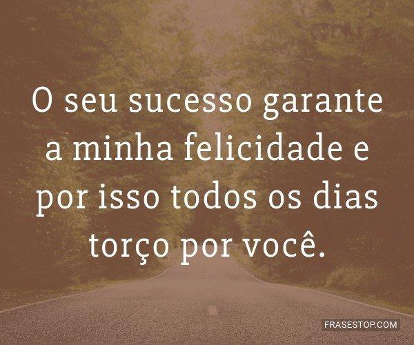 O seu sucesso garante a...