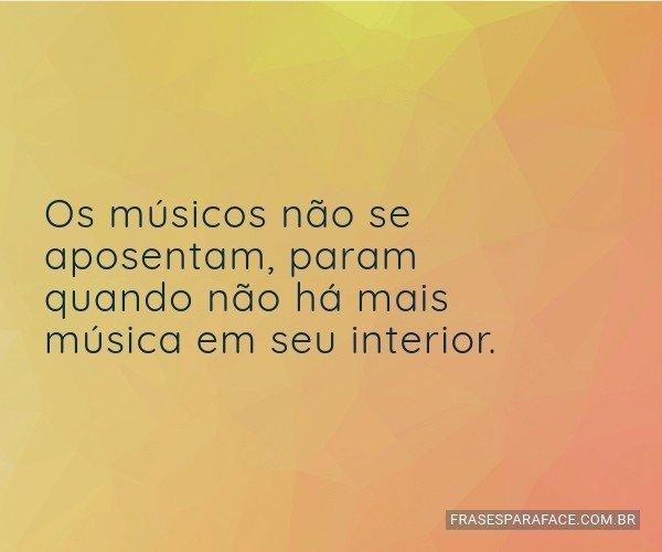 Os músicos não se...
