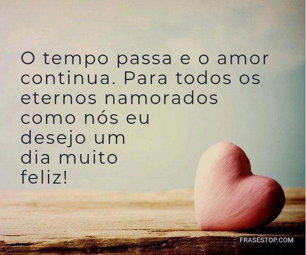 O tempo passa e o amor...