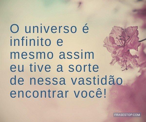 O universo é infinito e...
