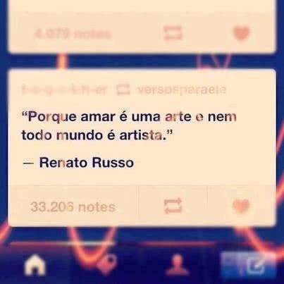 Porque amar é uma arte...