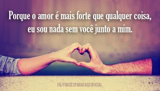 Porque o amor é mais...