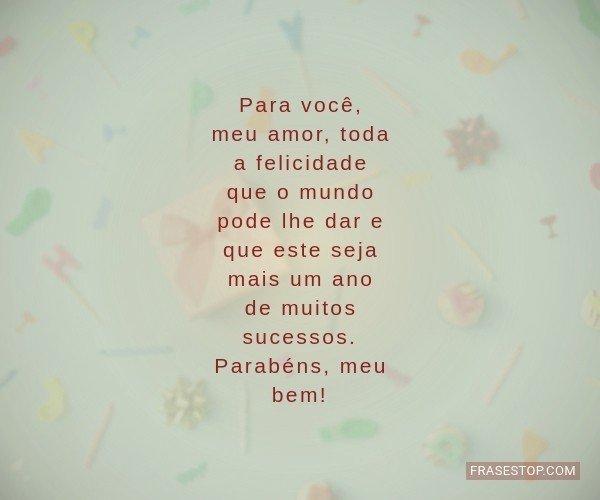 Para você, meu amor,...