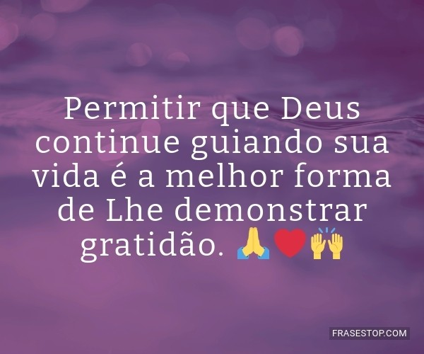 Permitir que Deus...