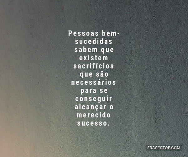 Pessoas bem-sucedidas...