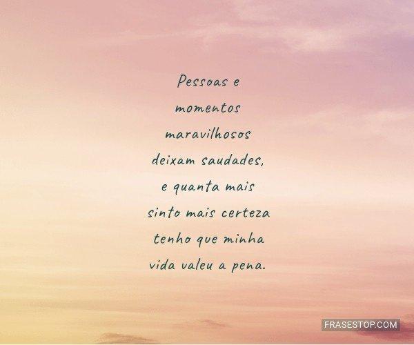 Pessoas e momentos...