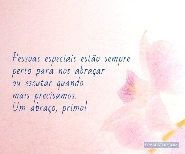 Pessoas especiais estão...