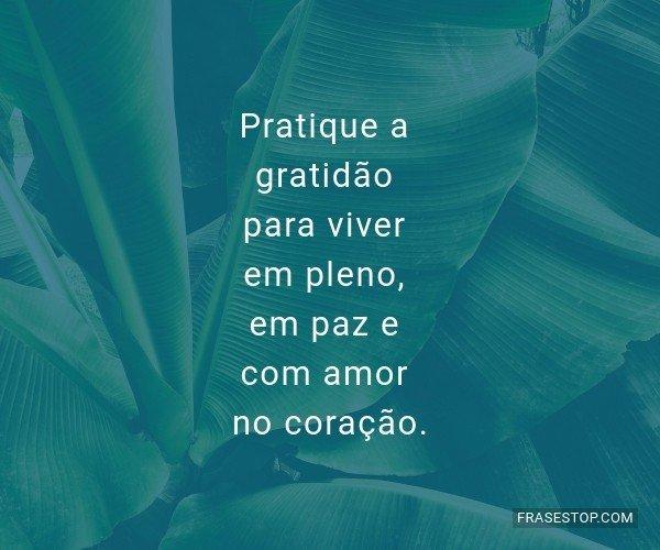 Pratique a gratidão para...