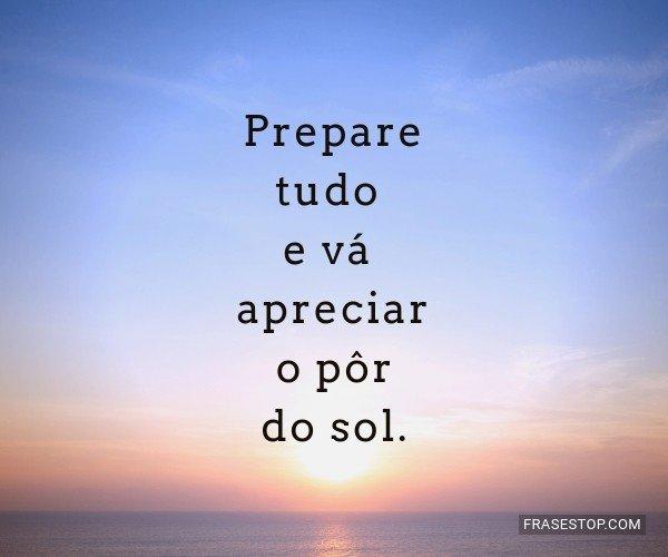 Prepare tudo e vá...