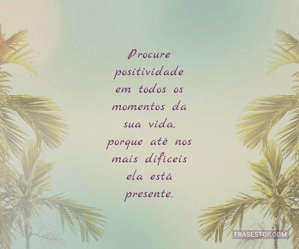 Procure positividade em...
