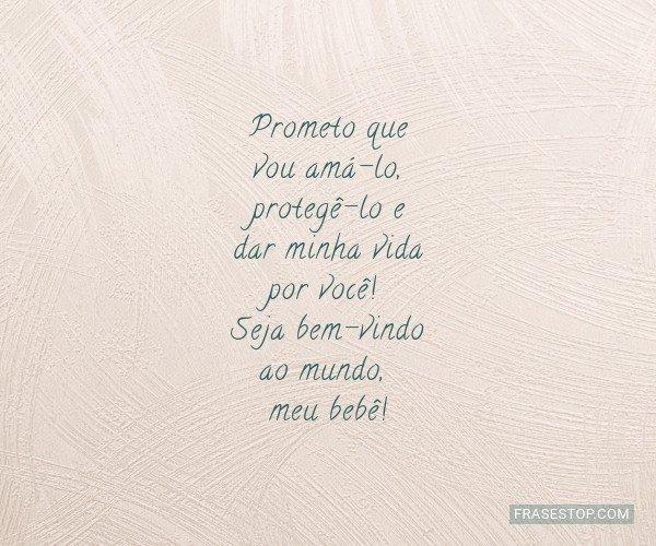 Prometo que vou amá-lo,...