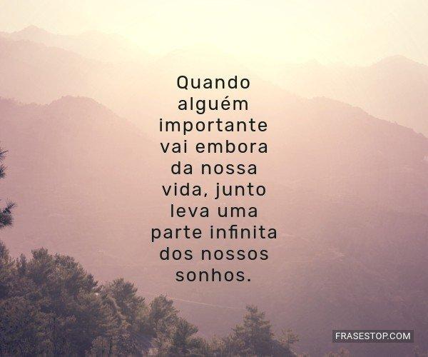 Quando alguém importante...