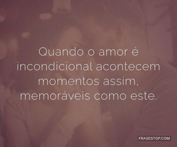 Quando o amor é...