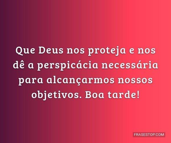 Que Deus nos proteja e...