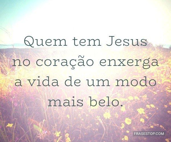 Quem tem Jesus no...